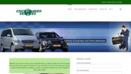 cisco courier, uk parcel shipping company website Design by testedtechs