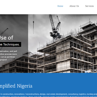 website design for abuja real estate, interior decoration company