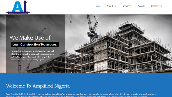 website design for abuja real estate, interior decoration company